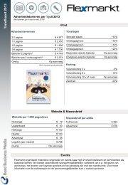 Tariefkaart 2013 Flexmarkt multimediaal - Adverteren bij Reed ...