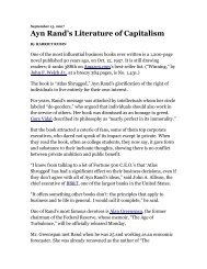Ayn Rand's Literature of Capitalism