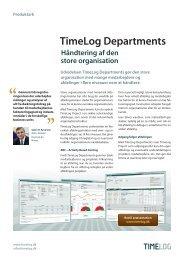 Læs mere om TimeLog Departments Hold styr på den store ...