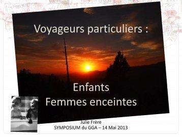 Julie Frere Infectiologie du Voyageur Cas particul