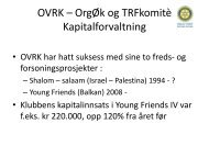 Klubbens Kapitalforvaltning - Oslo Vest Rotary Klubb
