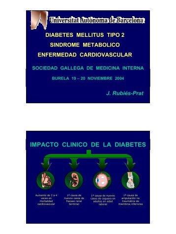 Diabetes mellitus tipo 2, síndrome metabólico y enfermedad ...