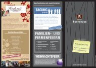 Hochzeit TAGUNG FAMILIEN- UND FIRMENFEIERN - Bootshaus