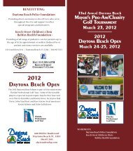 2012 Daytona Beach Open - Daytona Beach Police Foundation