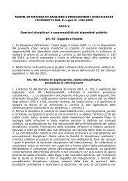 Normative in materia di sanzioni e procedimenti disciplinari