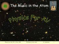 The Music in the Atom - Laboratory of Experimental High Energy ...