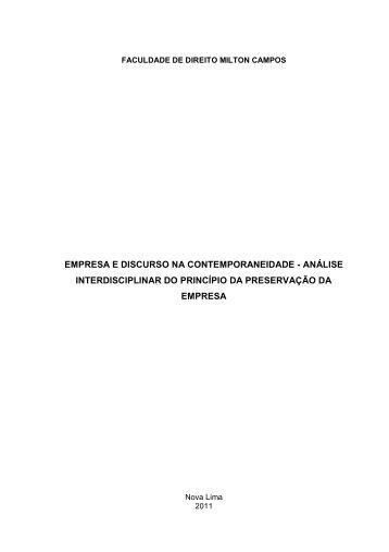 empresa e discurso na contemporaneidade ... - Milton Campos