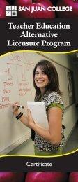 Teacher Education Alternative Licensure Program - San Juan College