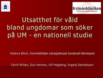 en nationell UM-studie - SFOG