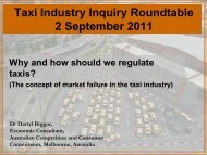 Why and how should we regulate taxis? - Taxi Industry Inquiry