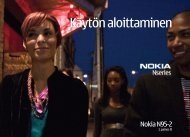 Käytön aloittaminen - Nokia
