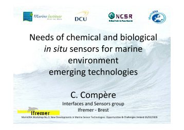 Needs of chemical and biological in situ sensors for ... - MarinERA