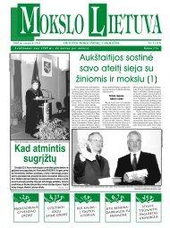 2005 m. sausio 6 – 19 d. Nr. 1 - MOKSLAS plius