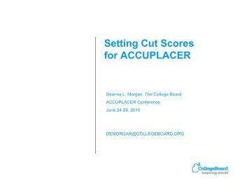 Accuplacer Sample Questions - For Professionals - College Board