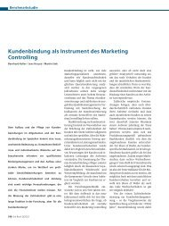 Kundenbindung als Instrument des Marketing Controlling