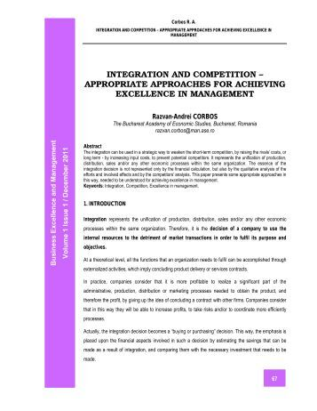 achieving maintaining individual excellence