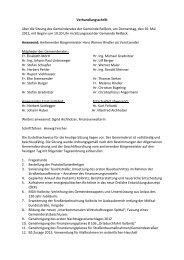 Verhandlungsschrift über die Sitzung des Gemeinderates der ...