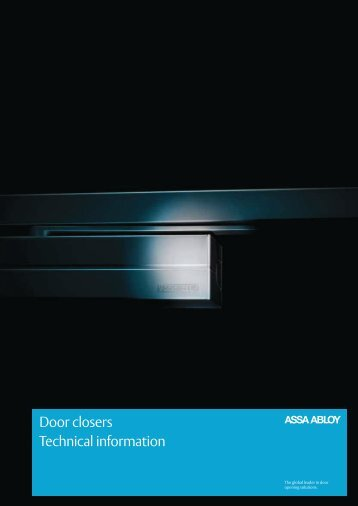Download full catalogue of ASSA ABLOY door closers here