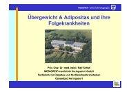 Übergewicht & Adipositas und ihre Folgekrankheiten - Adipositas MV