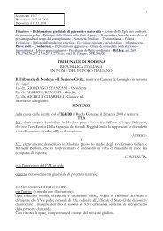 Testo completo della sentenza n. 362 del 30/11/2005 - fondazione ...