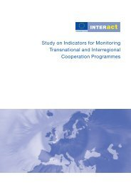 Study on Indicators for monitoring Transnational and ... - Interact