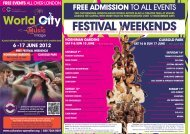 FESTIVAL WEEKENDS - Cultural Co-operation