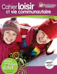Cahier Loisir et vie communautaire - Hiver 2013 - Ville de Terrebonne