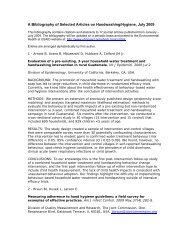 Handwashing 2009 Bibliography - Environmental Health at USAID