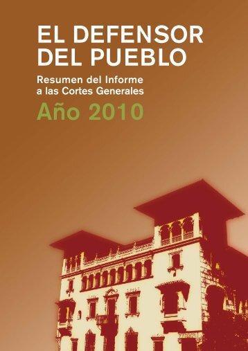 Resumen del Informe Anual del Defensor del Pueblo 2010
