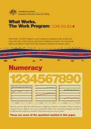 Core Issues 4: Numeracy - What Works