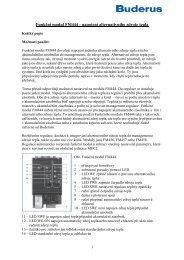 Funkční modul FM444 - napojení alternativního zdroje tepla - Buderus