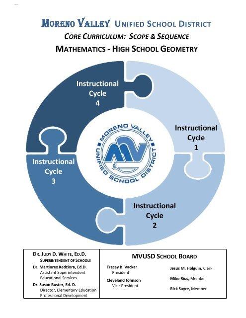 High School Geometry Moreno Valley Unified School District
