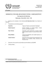 ANNOTATIONS TO THE PROVISIONAL AGENDA - GESAMP