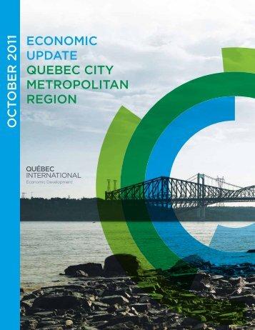 ECONOMIC UPDATE QUEbEC CITy METrOPOlITAN rEgION OCT O ...