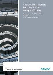 Gebäudeautomation - Einfluss auf die Energieeffizienz - Siemens ...