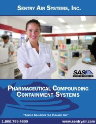 Pharmaceutical Compounding Containment Systems - Sentry Air ...