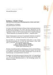 Einladung – 11.02.2013, Podewil - Berliner Projektfonds Kulturelle ...