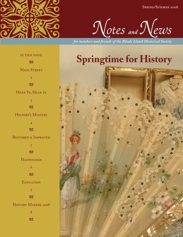 Spring/Summer 2008 - Rhode Island Historical Society