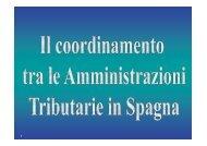 Il coordinamento tra le Amministrazioni Tributarie in Spagna