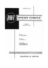 BWISC Bulletin #181 1999 June - British West Indies Study Circle