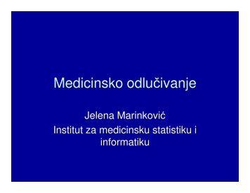 Медицинска информатика - Треће предавање