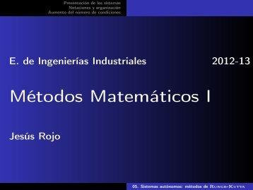 05. Sistemas autónomos: métodos de Runge-Kutta - Matemática ...