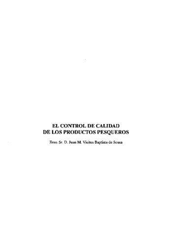 """(1992): """"El control de calidad de los productos pesqueros"""""""