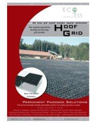 HoofGrid 4 page brochure , full color - Eco-Terr