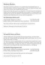 Programm - Zuchtverband CH Sportpferde