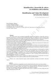 Identificación y desarrollo de valores en estudiantes universitarios ...