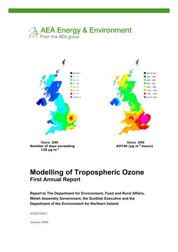 Modelling of Tropospheric Ozone: First Annual Report - UK-Air - Defra
