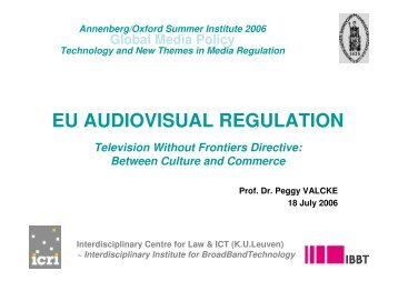 """audiovisual eu policy essay This essay examines the influence of recent evolution of the european union's audiovisual policy 2 thoughts on """" ttip and the cultural exception."""