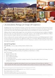 Conference Packages 2013 AW - One&Only Cape Town
