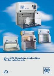 Weiss GWE Sicherheits-Arbeitsplätze für den Laborbereich